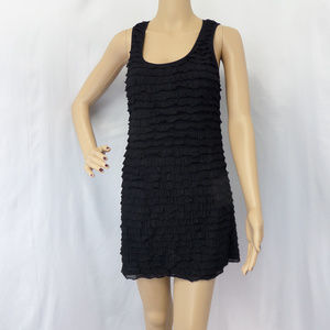 BLACK BODYCON STRETCHY COCKTAIL PARTY DRESS SIZE: